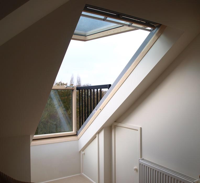 Balcony window conversion new cross slk services for Skylight balcony window